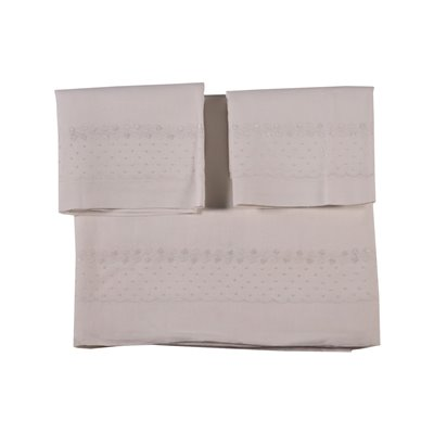 Double Bed Sheet with 2 Pillowcases Flax
