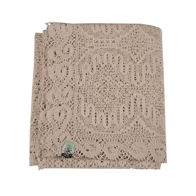 Double Bedspread in Mechanical Tombolo Cotton