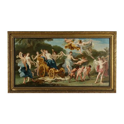Triumph Of Venus Oil On Canvas Late '700 Early '800