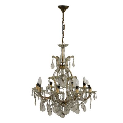 Maria Theresa's Style Chandelier Glass Italy 20th Century