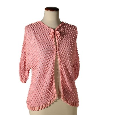 Vintage Jacket with Pink Beads 1960s