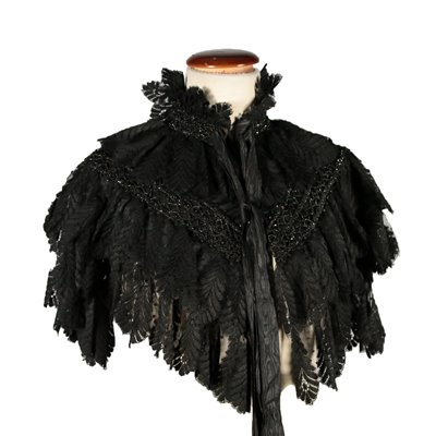 Vintage Lace and Tulle Cape Late 19th Century
