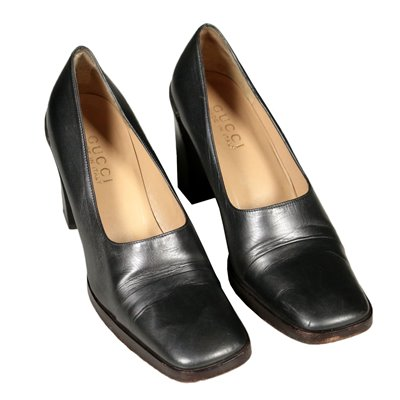 Vintage Gucci Pumps Leather Florence Italy 1970s
