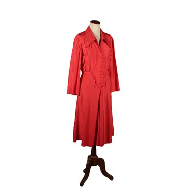 Vintage Red Dress Italy 1970s