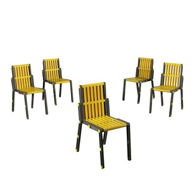 Chairs Plastic Material Italy 1980s Italian Production