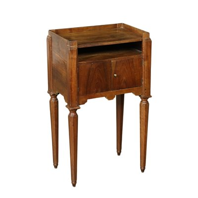 Directoire Bedside Table Walnut Italy 18th-19th Century