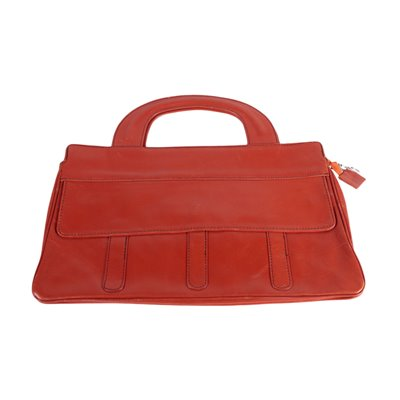 Vintage Red Leather Bag Italy 1970s