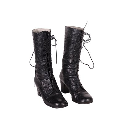 Vintage Boots Leather Italy 1960s