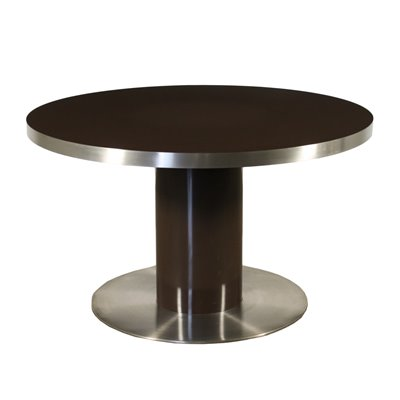 Willy Rizzo Table Lacquered Wood Chromed Metal Italy 1970s