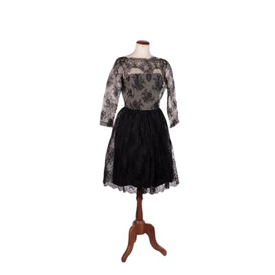 Vintage Lace and Tulle Dress Italy 1950s-1960s