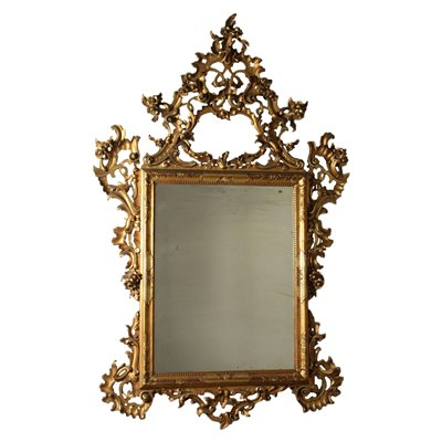 Rocaille Mirror Italy Late 19th Century