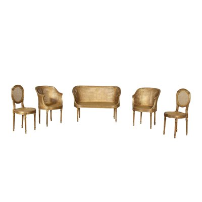 Neo-Classical Revival Living Room Set Italy 20th Century