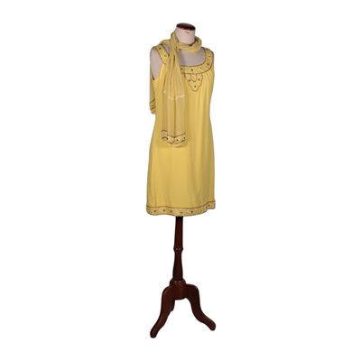 1970s Vintage Yellow Dress Italy