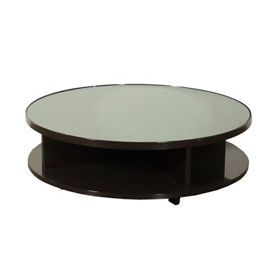 Coffee Table Lacquered Wood Smoked Glass Italy 1960s-1970s