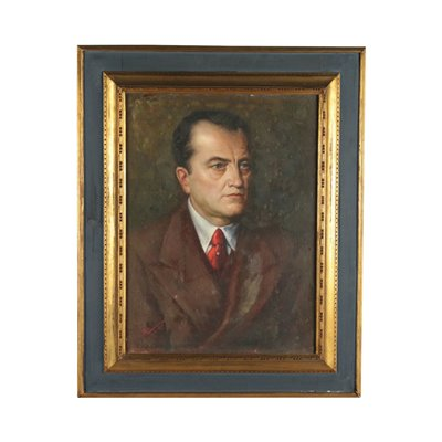 Angelo Cremona Oil On Paperboard 20th Century