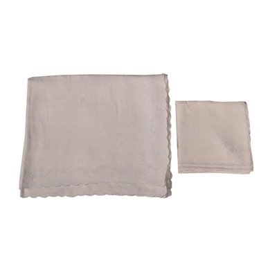 Flax Tablecloth WIth 12 Napkins