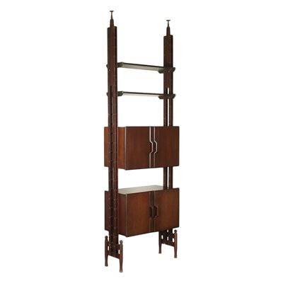 Bookcase Veneered Wood Solid Stained Beech Italy 1960s