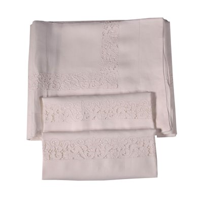 Double Bedsheet With 2 Pillowcases Flax Italy