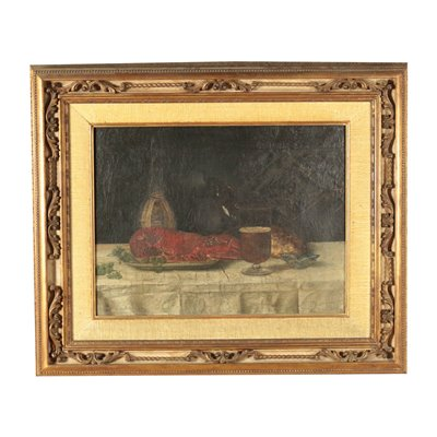 Still Life With Lobster Oil On Canvas 18th Century