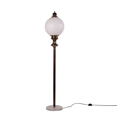 Lamp Brass Glass Marble Italy 1950s 1960s