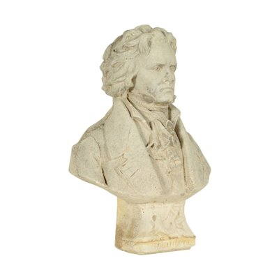 Beethoven's Bust Cement Paste Italy 20th Century