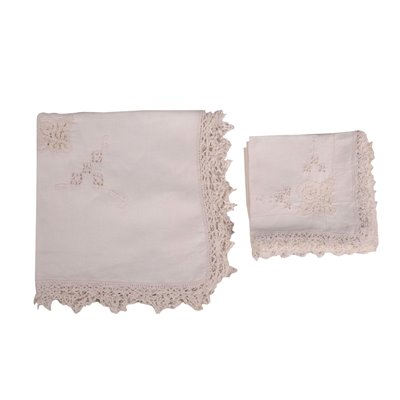 Falx Tablecloth With 12 Napkins Italy 20th Century