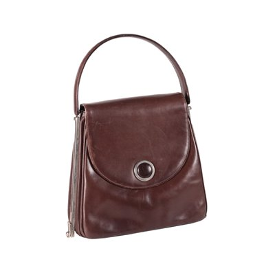 Vintage Brown Purse Leather Italy 1960s-1970s