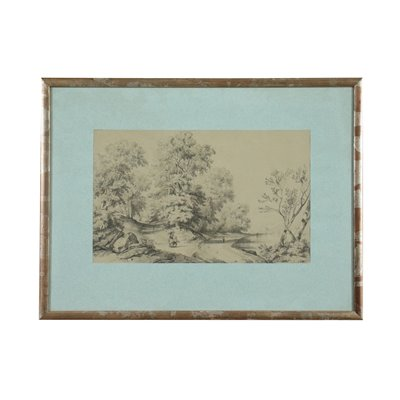 Landscape With Figures 18th Century