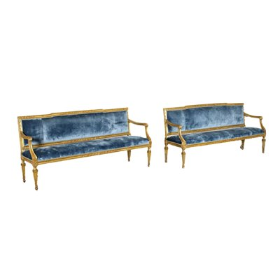 Pair Of Sofas Neoclassical Naples Italy Second Half '700