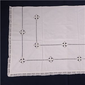 Pair of Cotton Pillowcase Covers Italy 20th Century