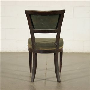 Group of 6 Empire Chairs Walnut iTaly 19th Cenutry