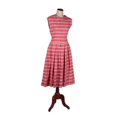 Vintage Pink Cotton Dress Italy 1960s-1070s