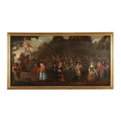 Allegory Of Love Oil On Canvas Northern Europe 17th 18th Century