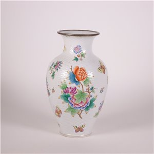Herend Vase Porcelain Hungary 20th Century