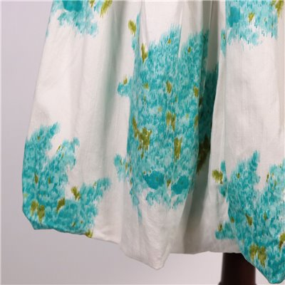 Vintage White and Turqoise Dress Italy 1950s-1960s