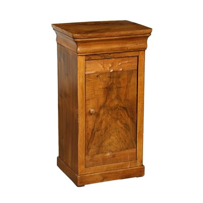 Luois Philippe Bedside Table Silver Fir Walnut Italy 19th Century