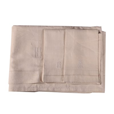 Double Bedsheet with 2 Pillowcases Flax Italy 20th Century