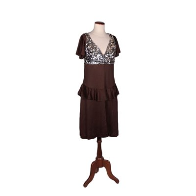 Vintage Dress With Sequind and Beads Bologna 1980s