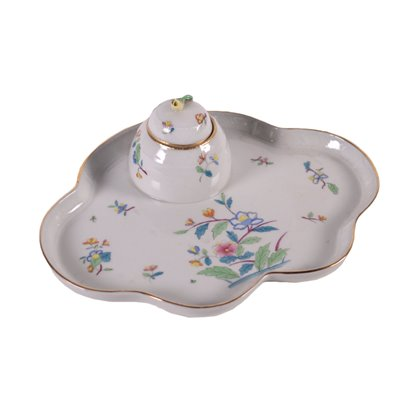 Inkwell By Herend Hungary Porcelain 20th Century