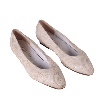 Vintage White Lace Shoes Italy 1980s-1990s