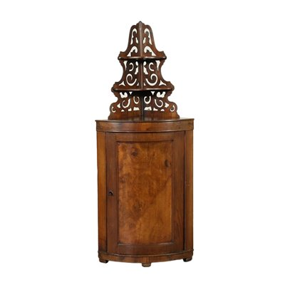 Corner Cabinet With Extension Walnut Italy 19th Century