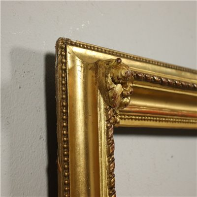 Gildede and Engraved Frame Italy 19th Century