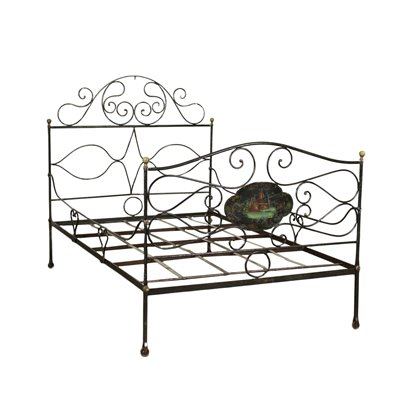 Wought Iron Bed Italy 19th Century