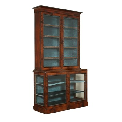Two-Pieces Early Victorian Showcase Mahogany England 19th Century