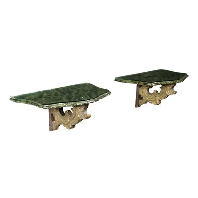 Pair of Shelves Made WIth Ancient Parts Italy 20th Century
