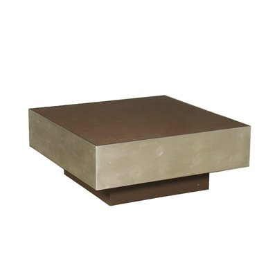 Coffee Table Chromed Aluminium Lacquered Wood Italy 1970s