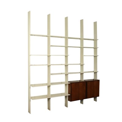 Bookcase Veneered Wood Lacquered Wood Italy 1960s