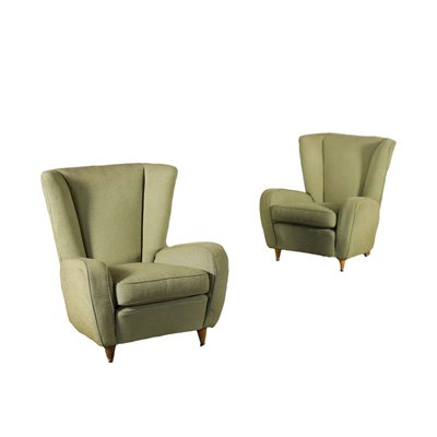 Pair Of Armchairs Foam Spring Italy 1950s