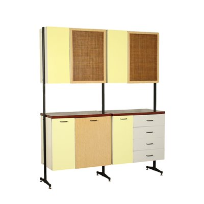 Cupboard Formica Metal Italy 1960s