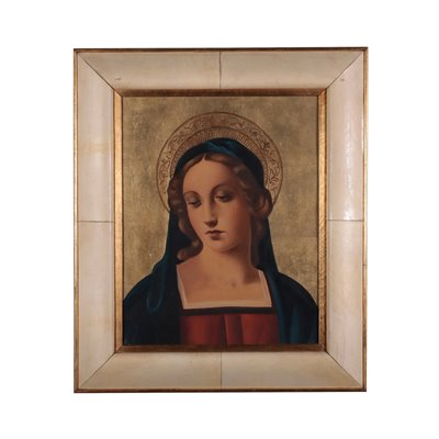 Face of The Virgin Oil on Plywood 1930s